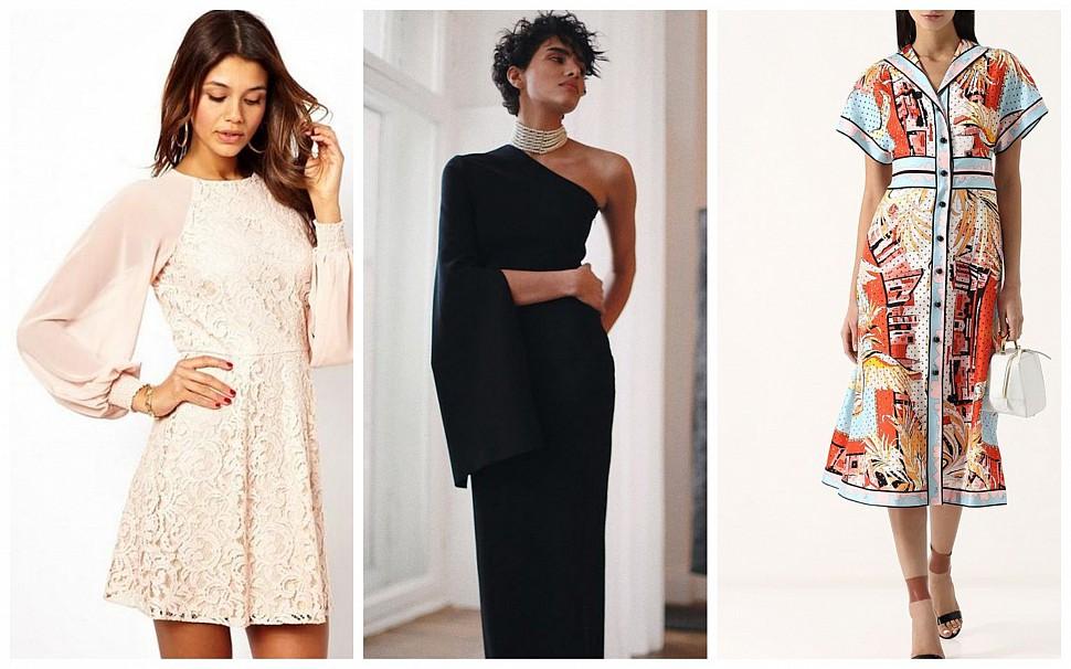 Платья 2021: ассиметричные, с принтом, с большими рукавами - блог Issaplus