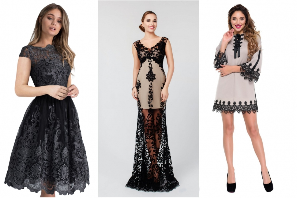 Модні плаття з чорним мереживом - блог Issaplus