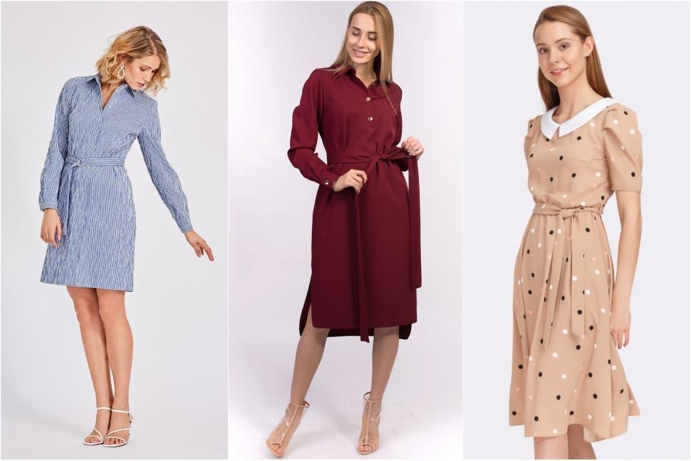 Модні плаття з відкладним коміром - блог Issaplus