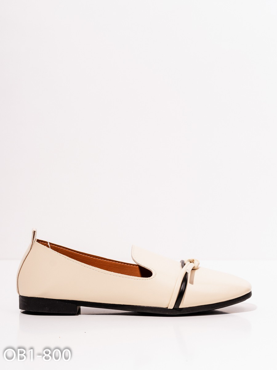 47bc48e68 ISSAPlus Молочные кожаные туфли с декором-58200 купить недорого ...