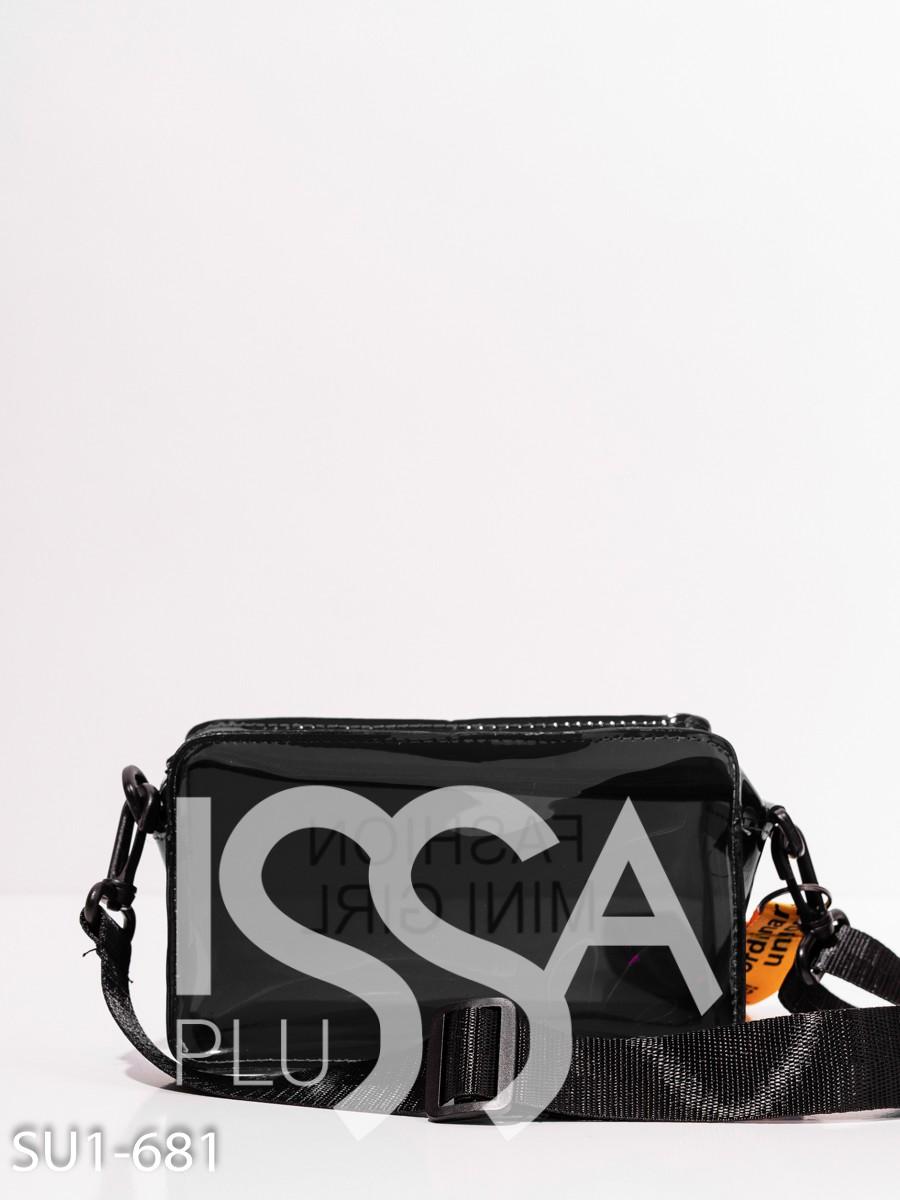 Черная полупрозрачная силиконовая сумка