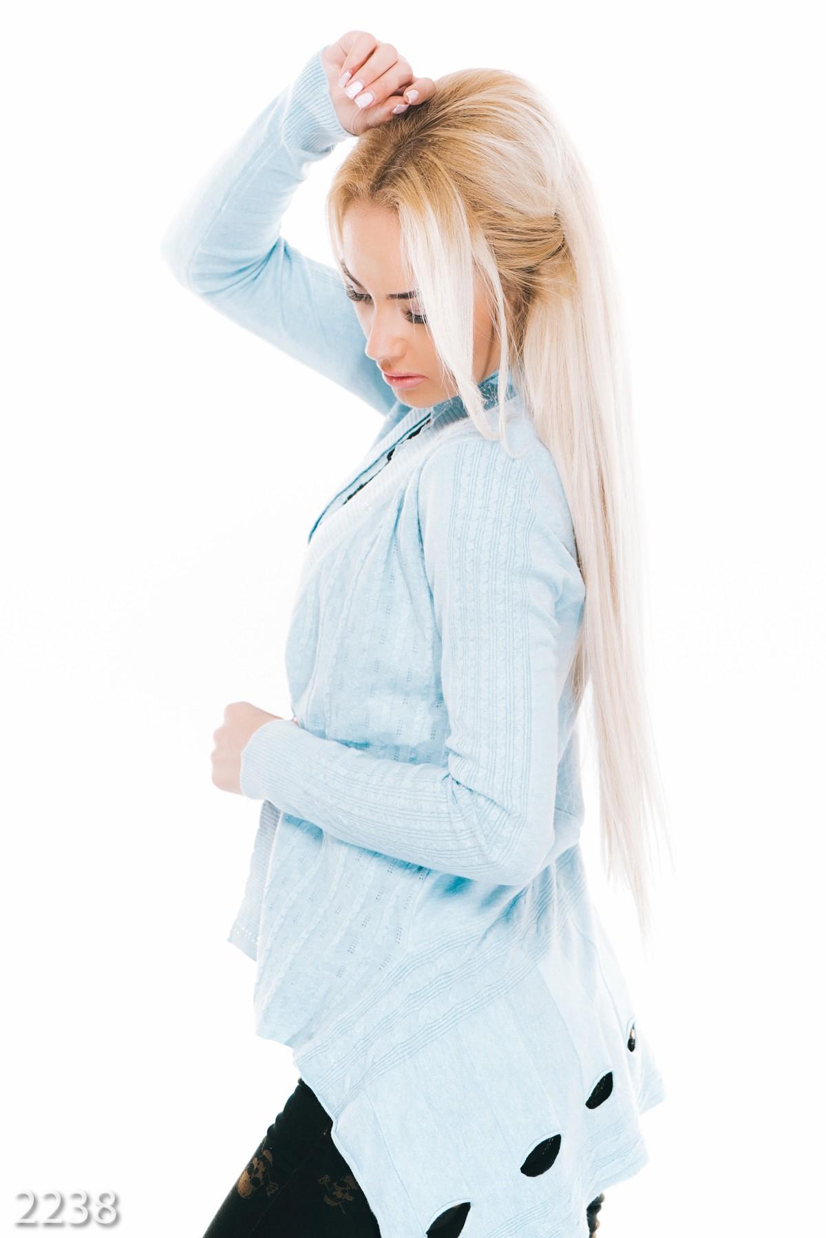 Голубая кофта