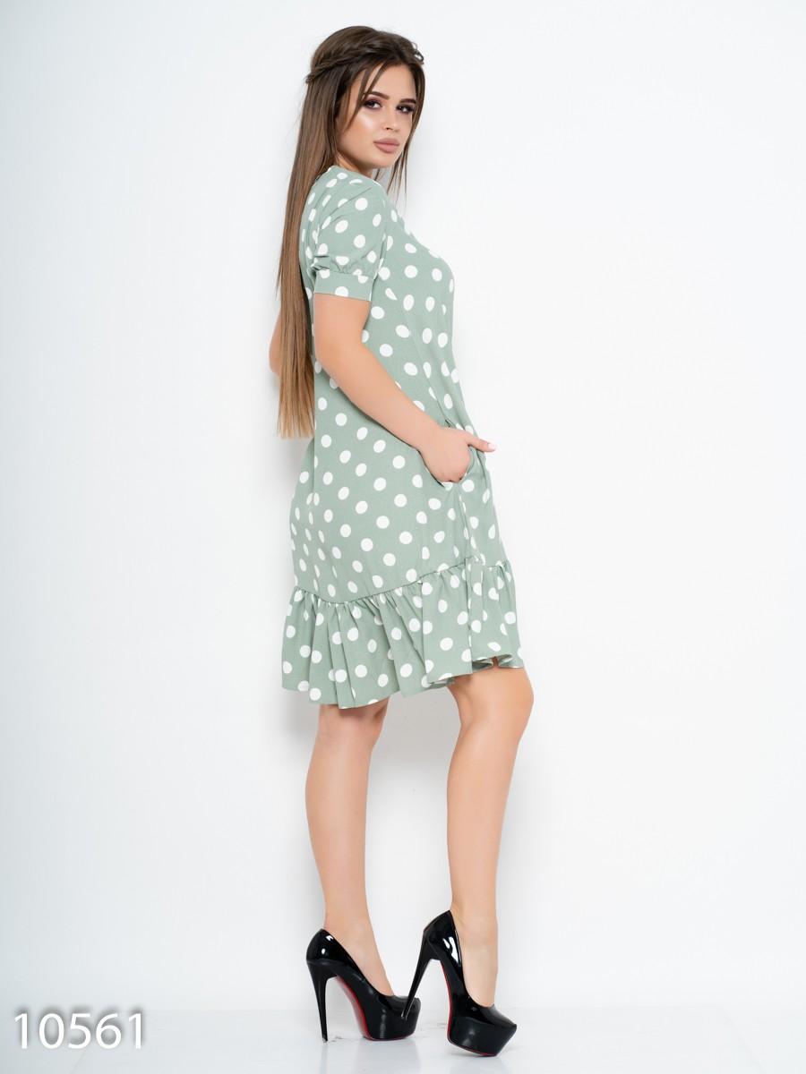 e4609aeee40 ... Зеленое платье в горошек с воланом  417 грн. фото 3 ...