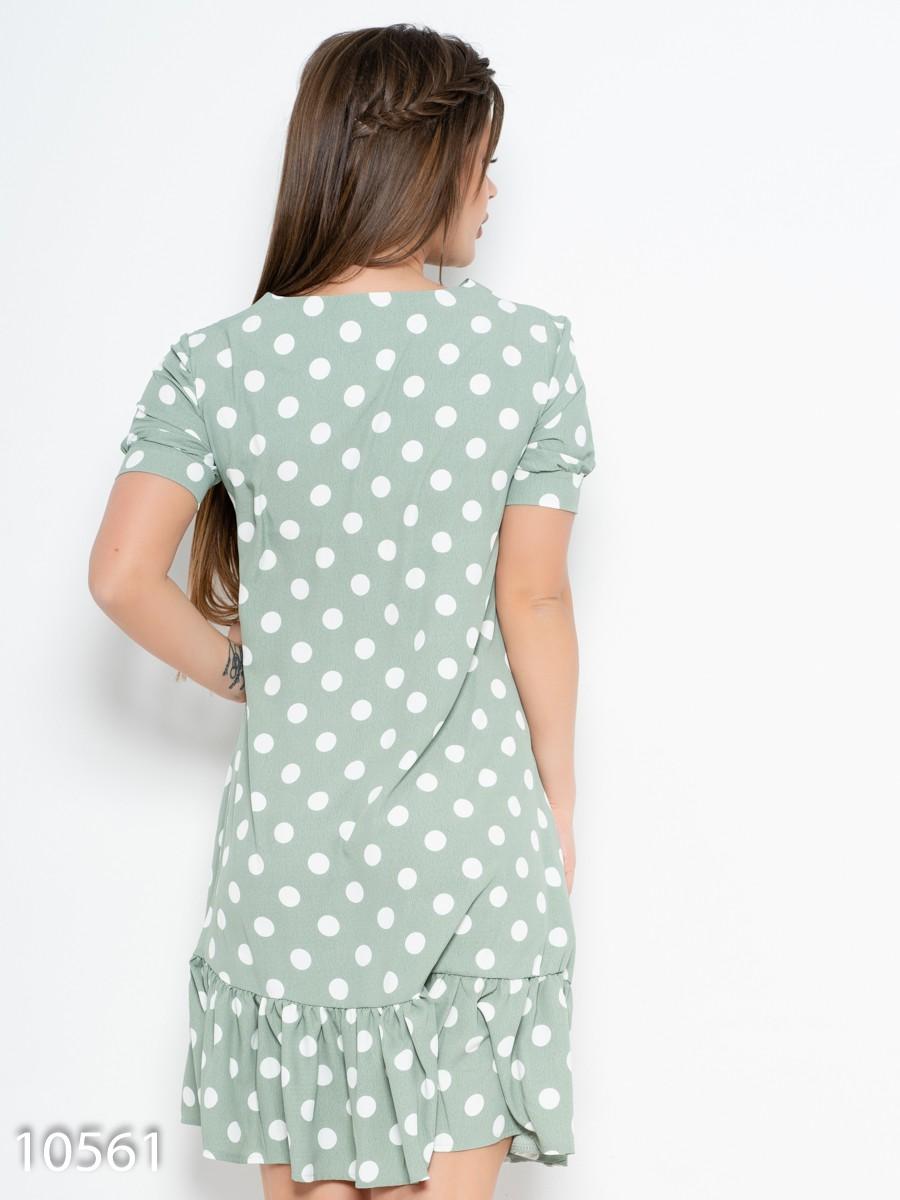 350200a3748 ... Зеленое платье в горошек с воланом  417 грн. фото 4
