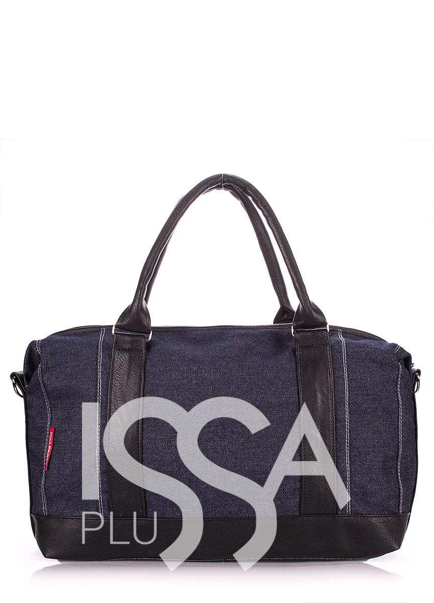 Джинсовая сумочка с кожаными вставками