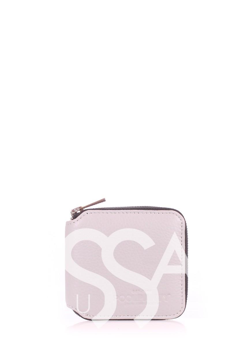 Серый кошелек Miniwallet из натуральной кожи