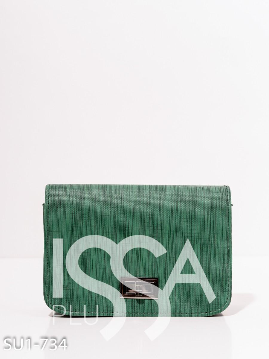 Зеленая фактурная каркасная сумка