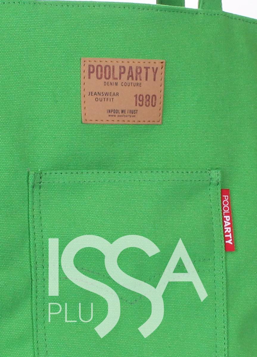 Зеленая сумка Arizona с кожаной нашивкой и стильным кармашком