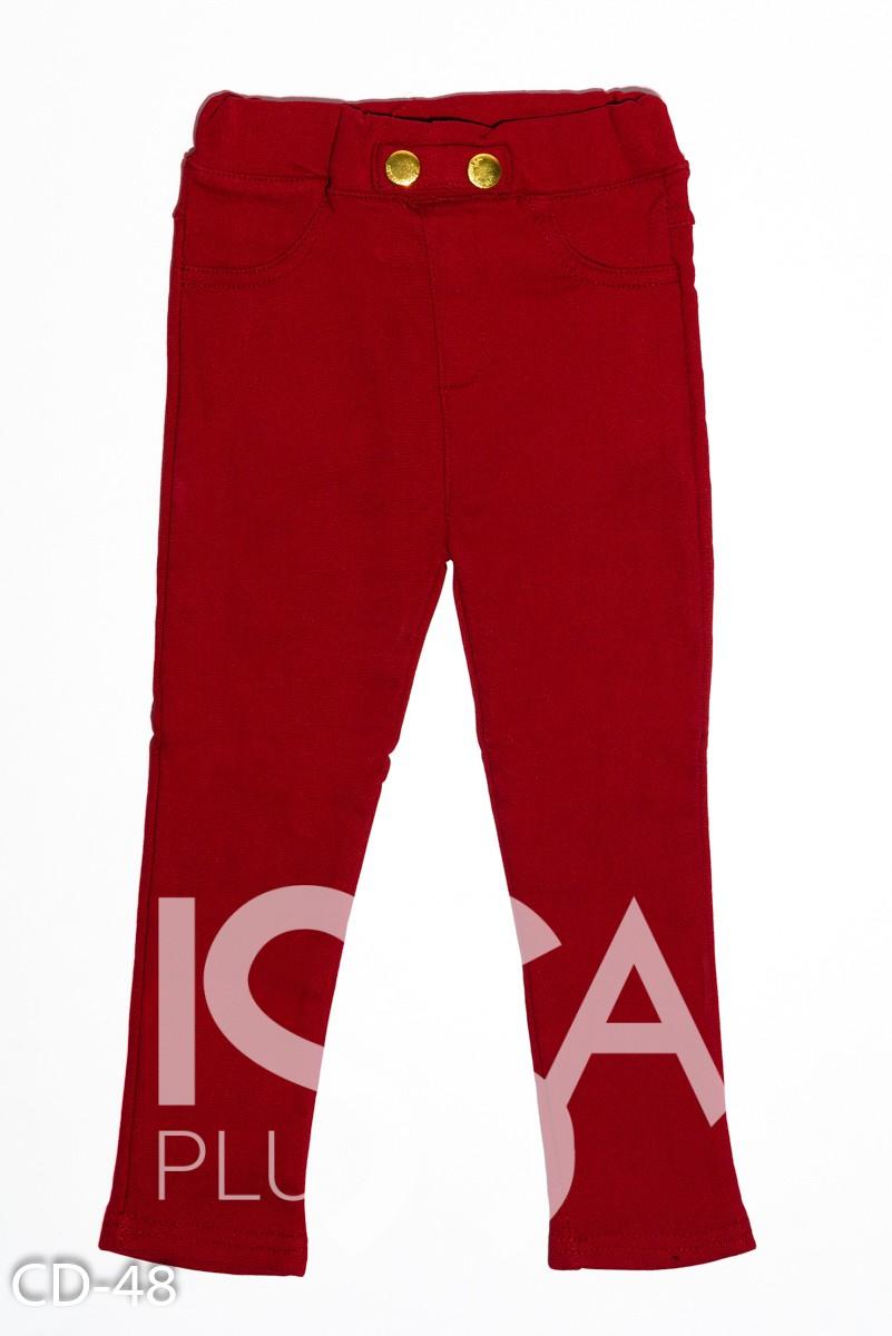 Бордовые джинсы скинни на флисе
