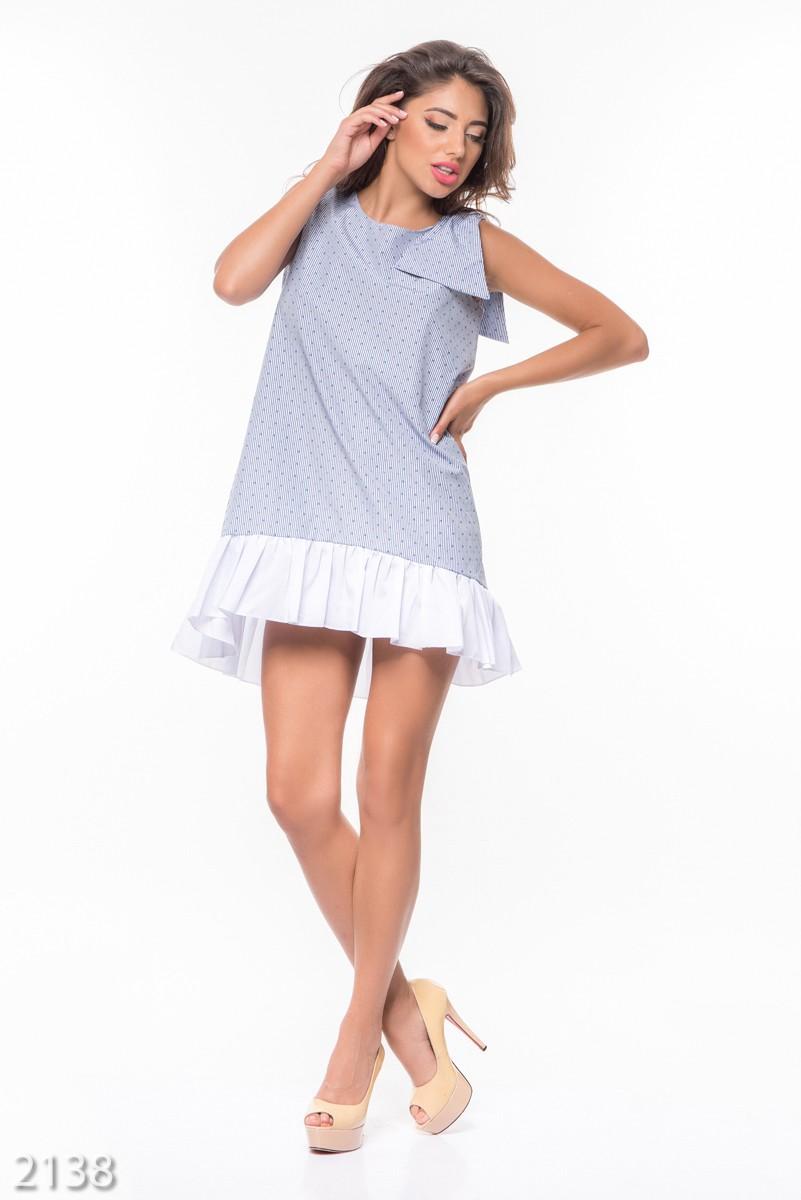 Платья в бело голубую полоску
