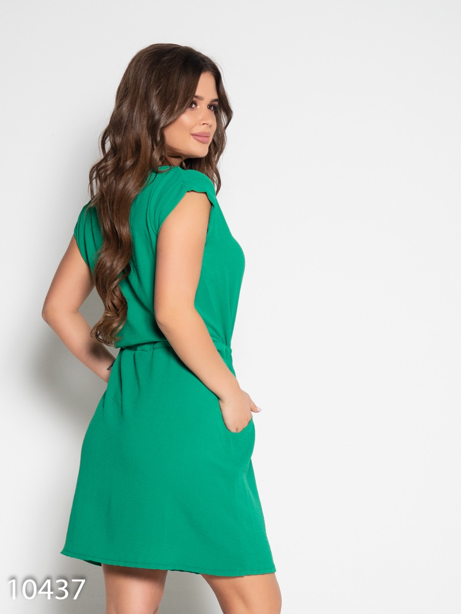 a9053f5ca37ce44 ISSAPlus|Зеленое платье с вырезом и кулиской-57614 купить недорого ...