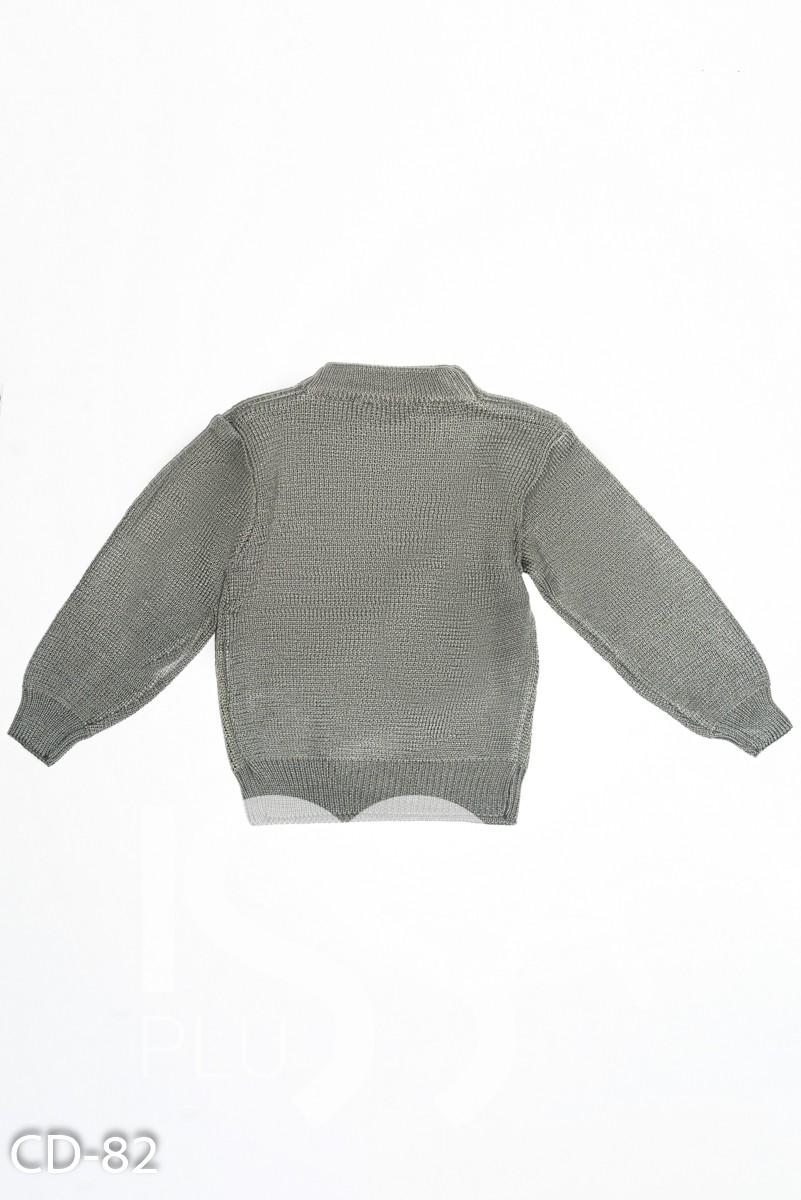 Серый вязаный свитер с Микки Маусом