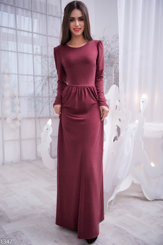 Платья бордового цвета в пол купить