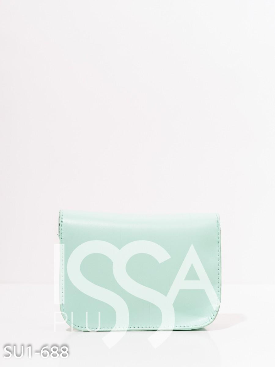 Мятная маленькая каркасная сумка на цепочке
