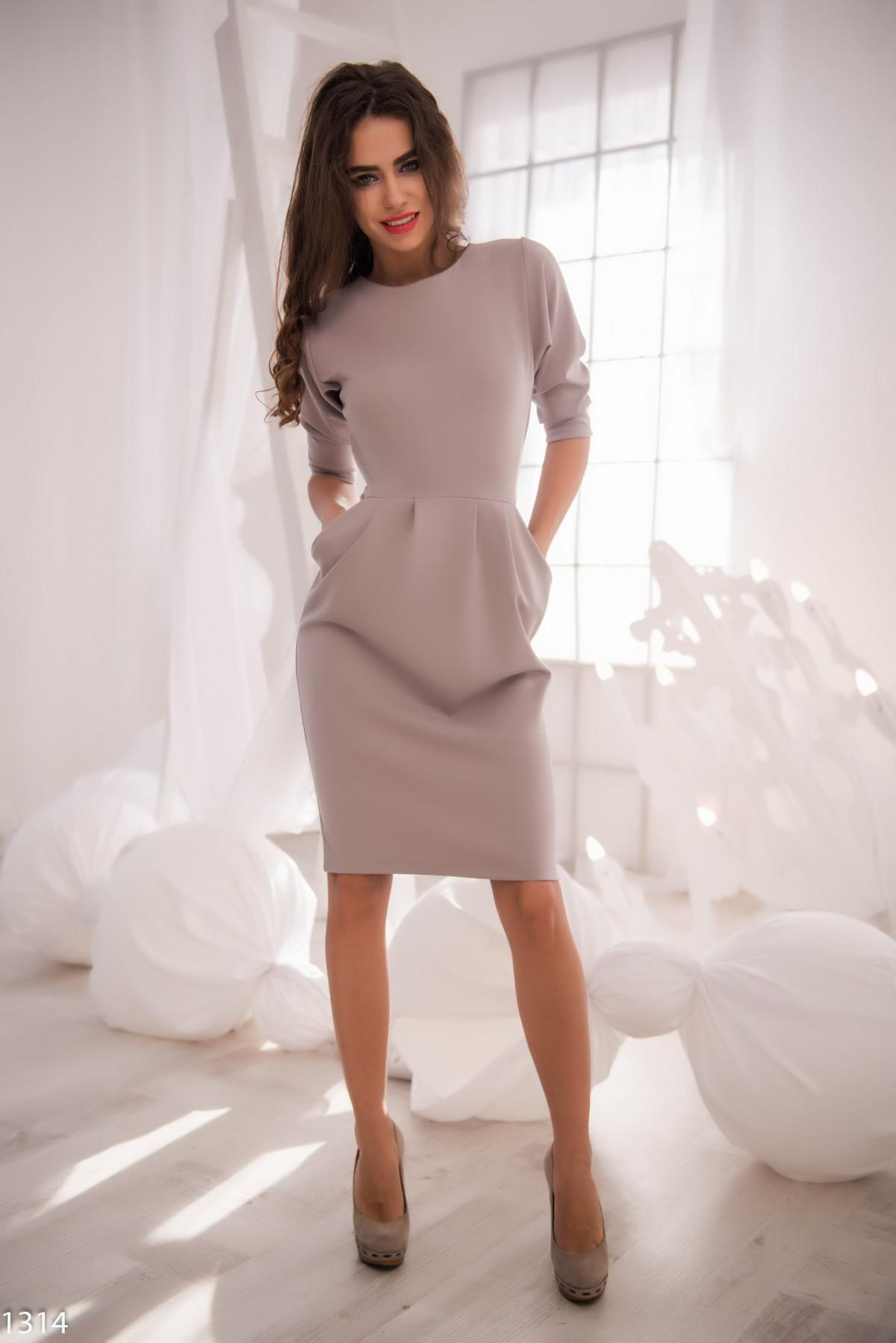 Светло-серое платье фото