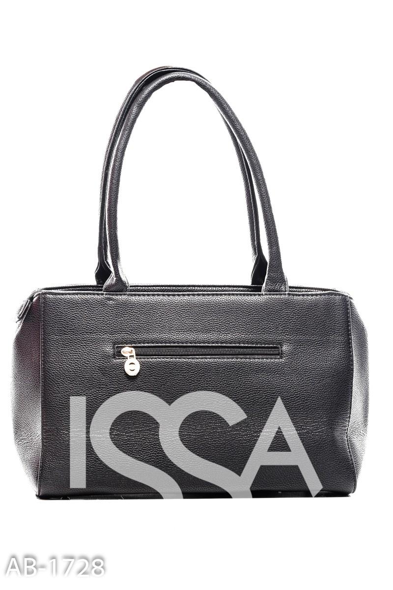 Черная прямоугольная сумочка с черными камушками