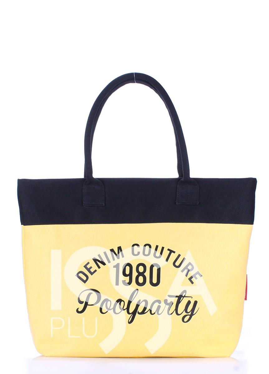 Коттоновая сумка Paradise желто-черная