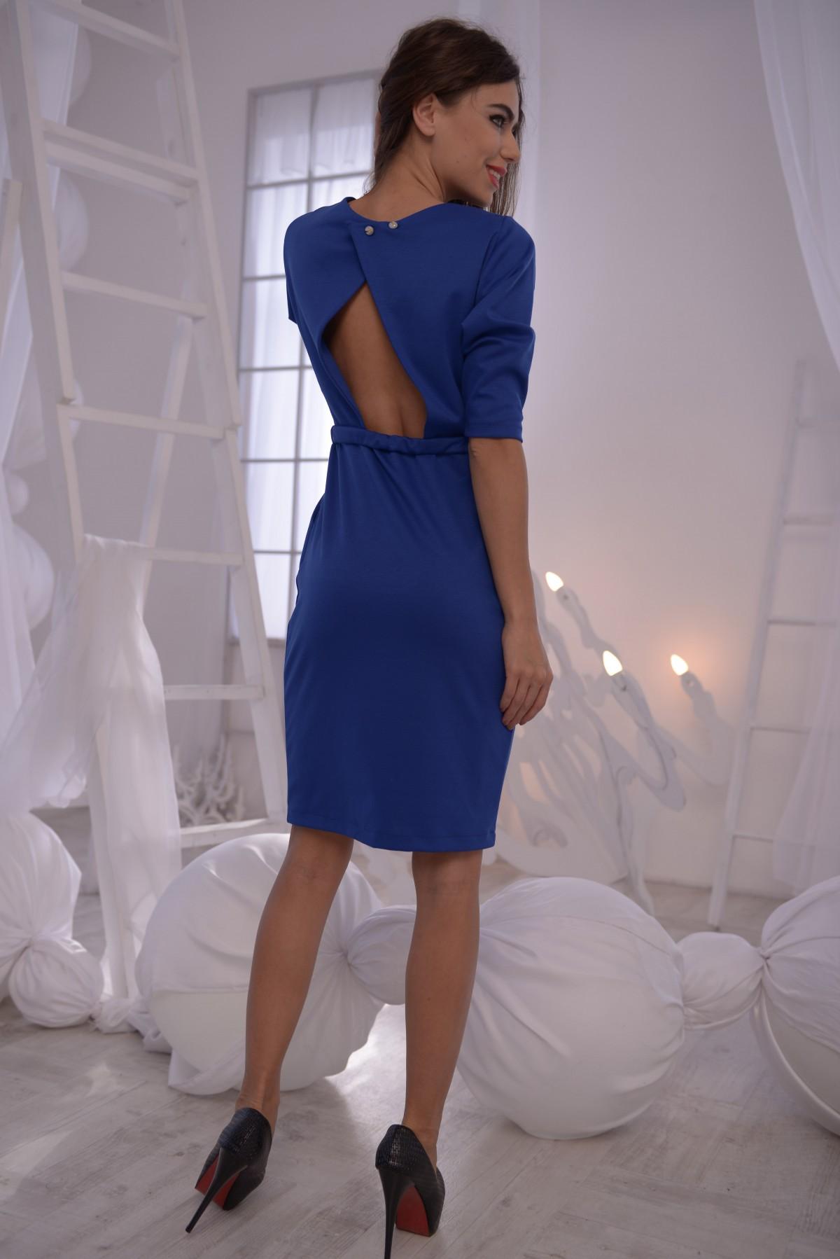 0bad42d36c6 ... Ярко-синее платье-футляр с вырезом на спине  243 грн. фото 4