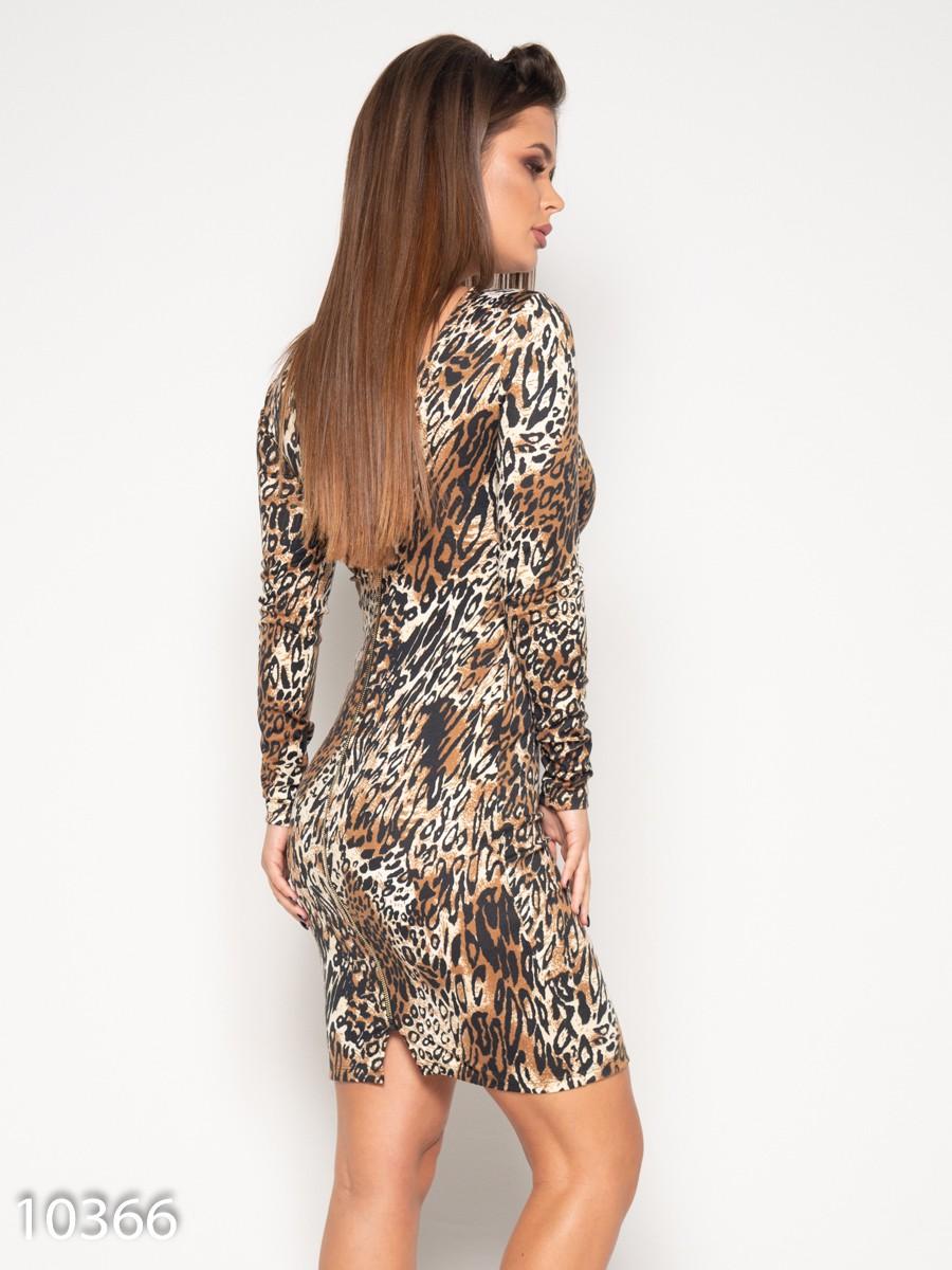 46eeb156e95 Платье с леопардовым принтом и молнией сзади  270 грн. фото 2 ...