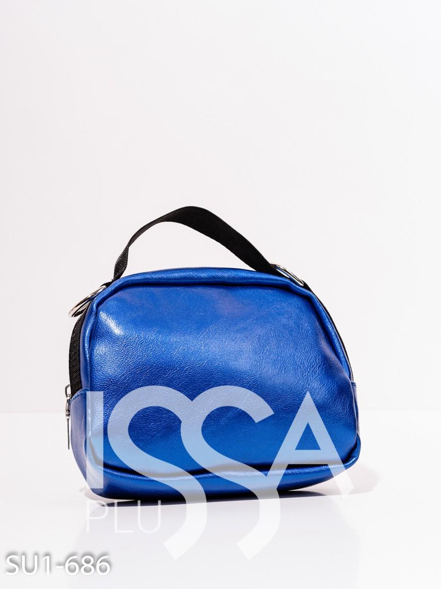 Ручная сумка-клатч цвета электрик из эко-кожи