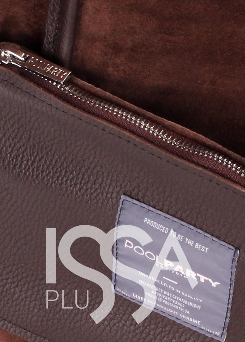 Кожаная коричневая сумка Soho с вставками