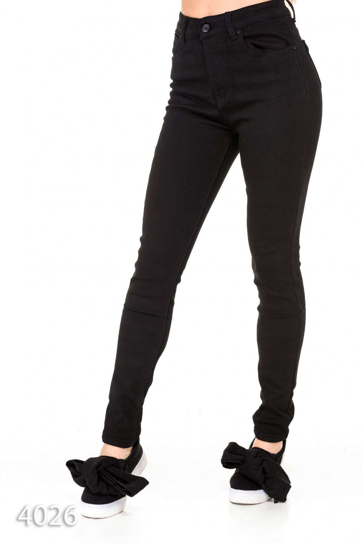 dcfda311d44 Черные узкие утепленные джинсы с высокой талией  560 грн. фото 2 ...