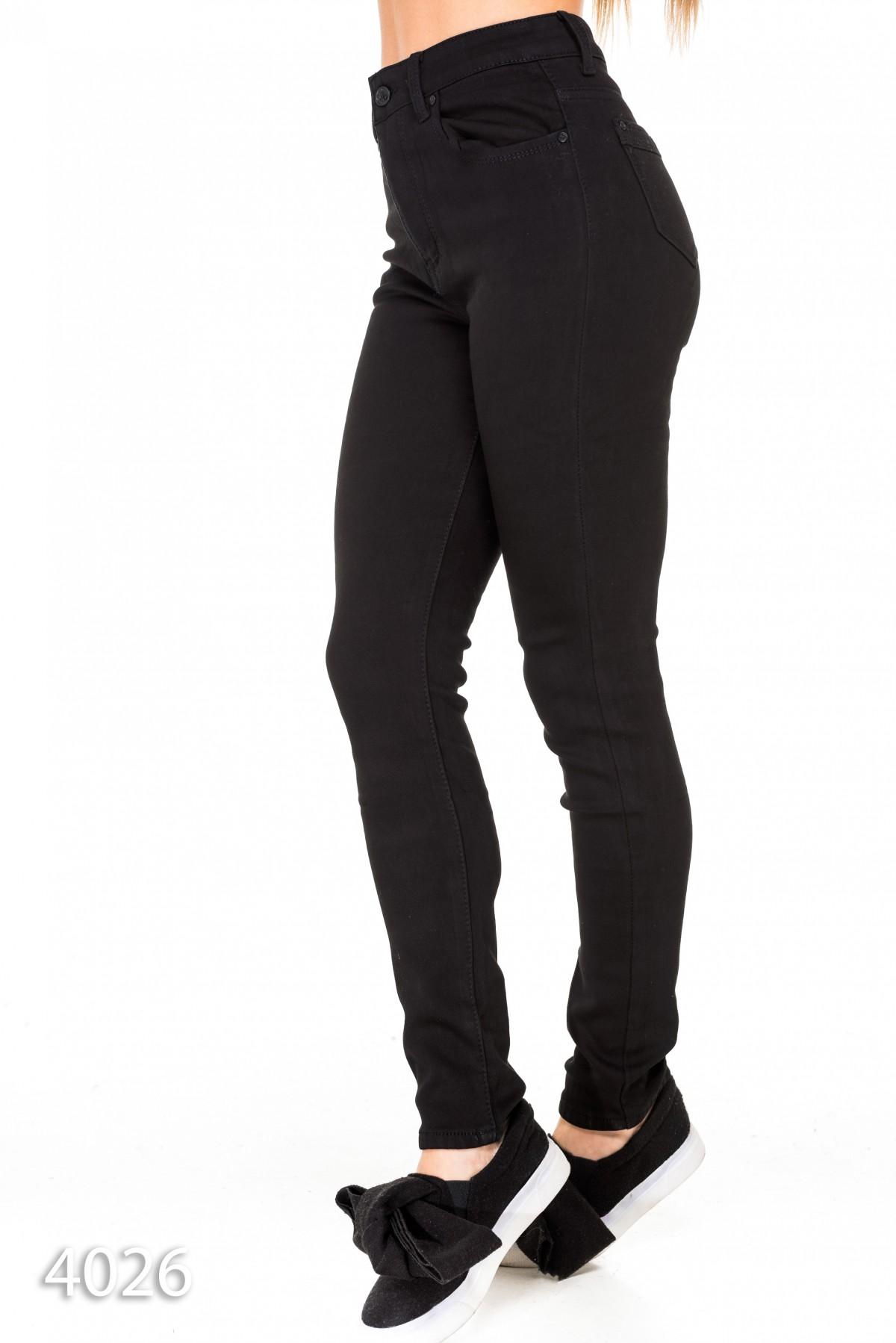 8c6fde1e171 ... Черные узкие утепленные джинсы с высокой талией  560 грн. фото 3 ...