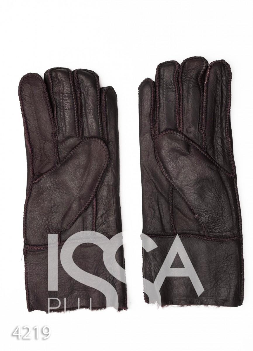 Коричневые грубые кожаные рукавицы