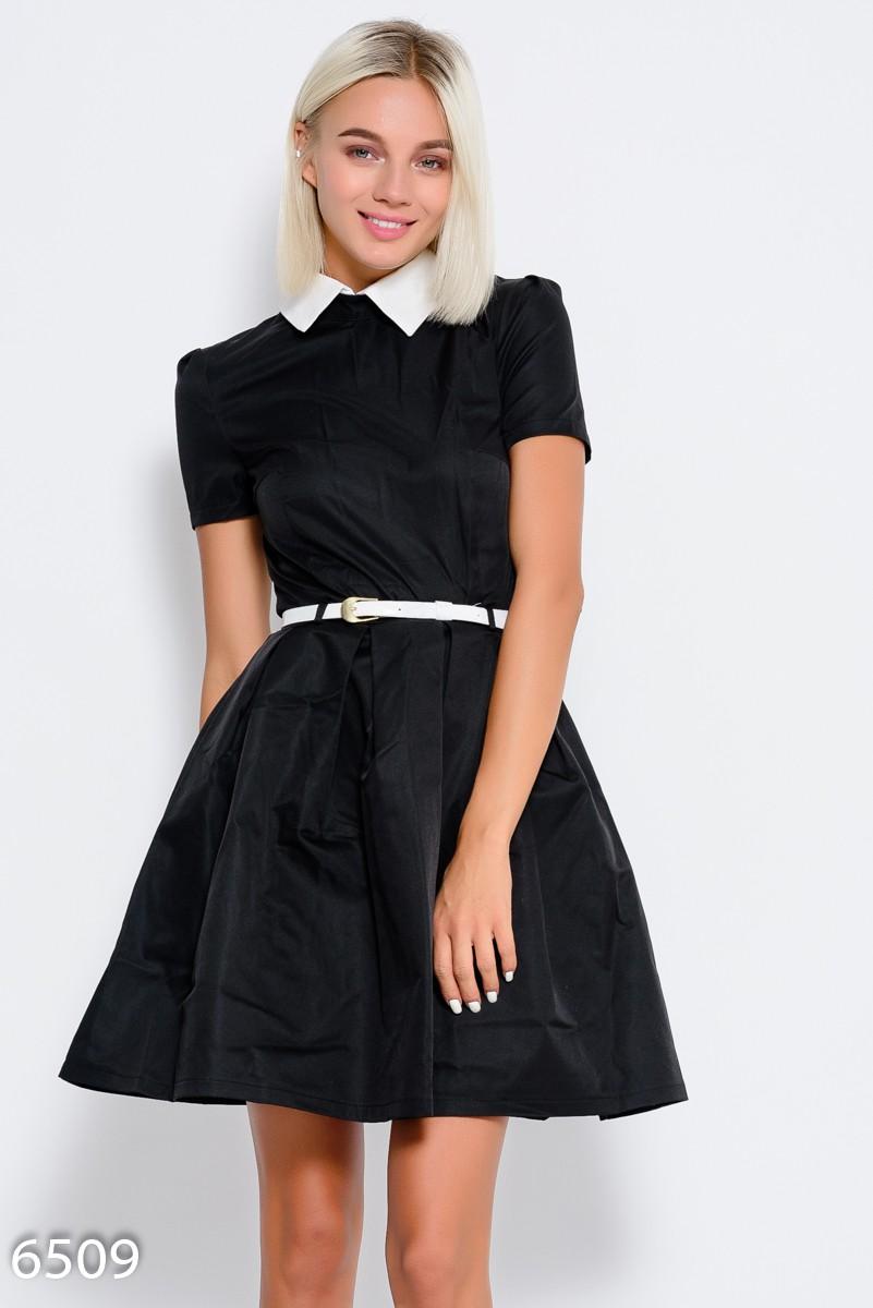 72daec59ce6 Черное приталенное платье с короткими рукавами
