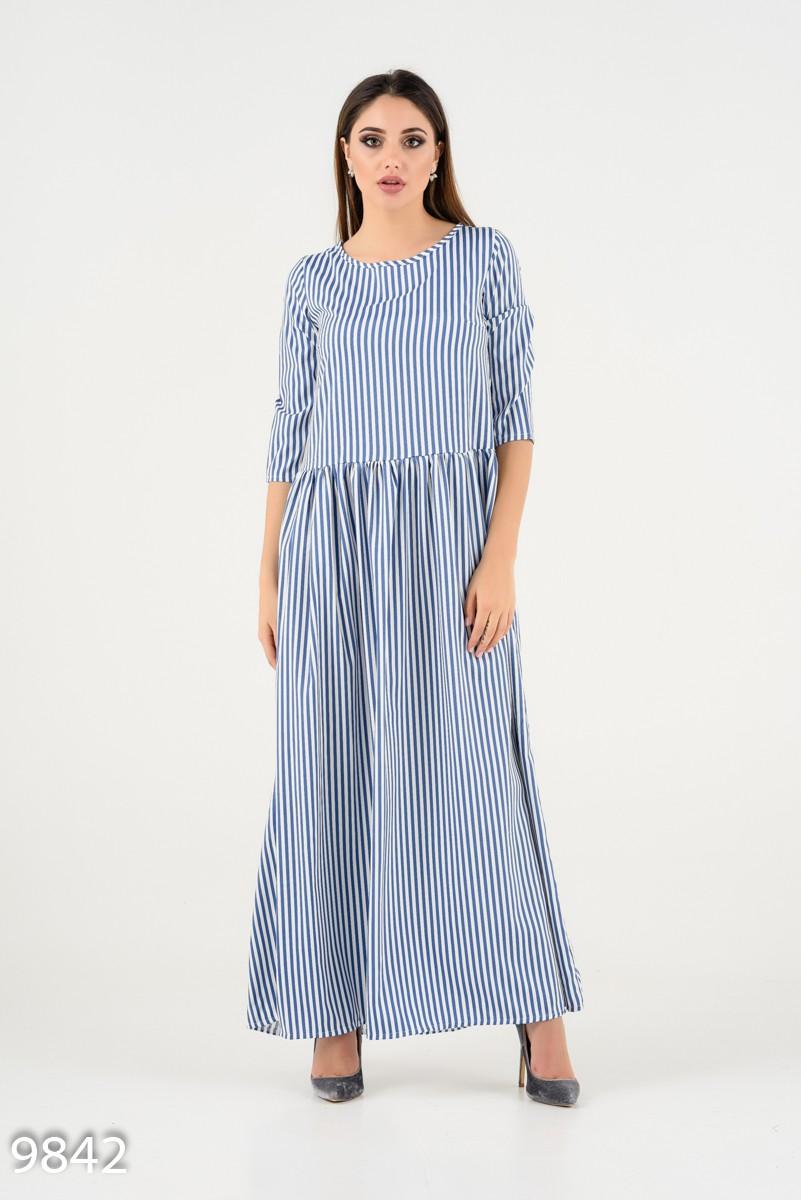 1ec6d347065 Голубое в белую полоску платье с присобранной юбкой  516 грн. фото 2 ...