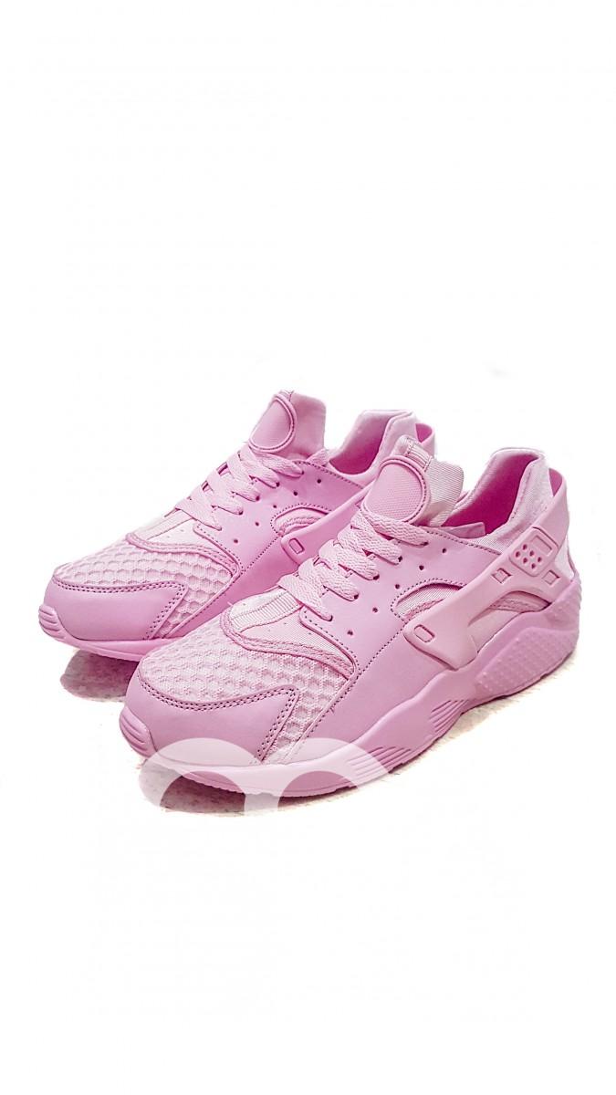 Розовые однотонные спортивные кроссовки