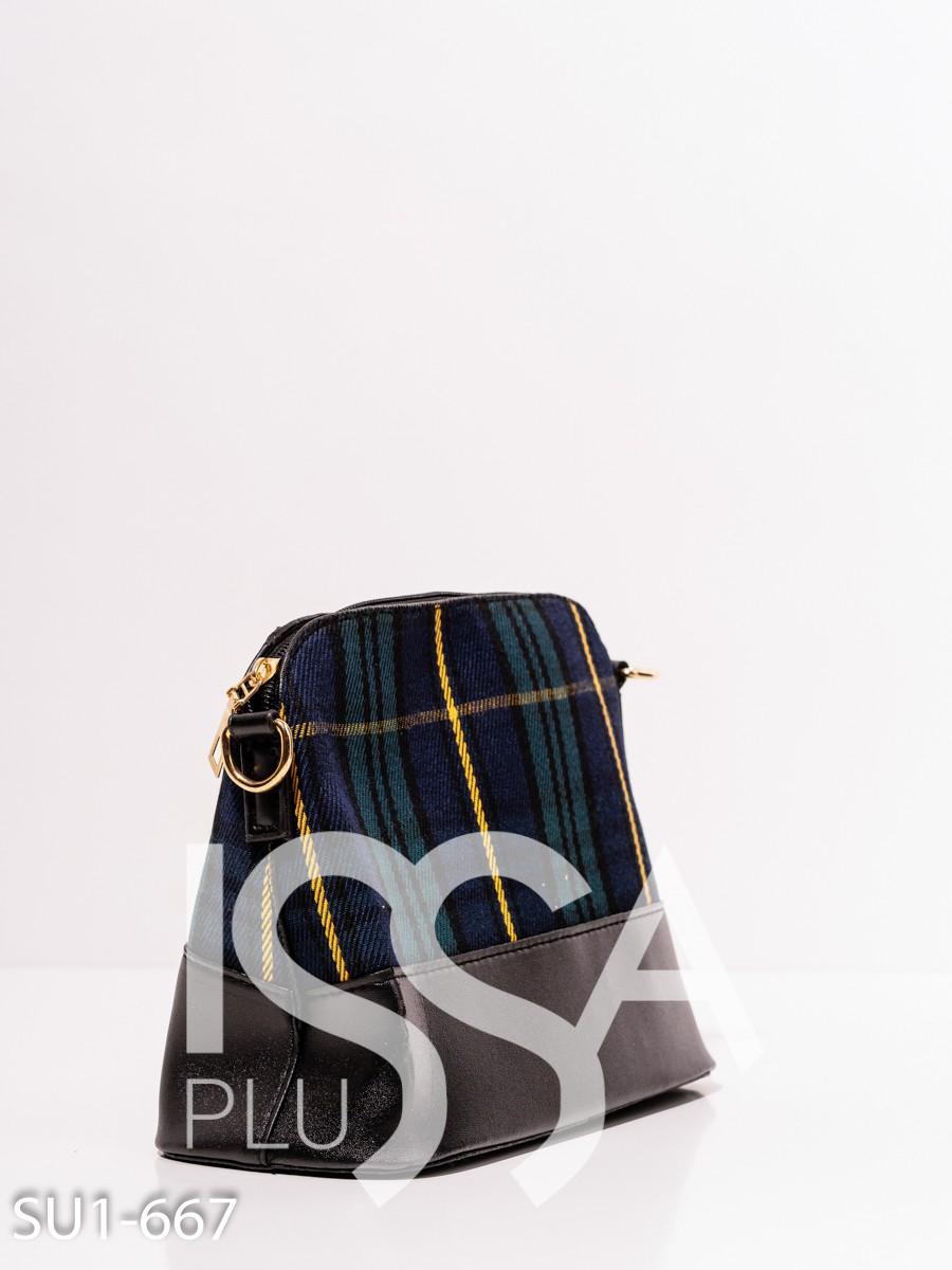 Комбинированная каркасная сумка на молнии
