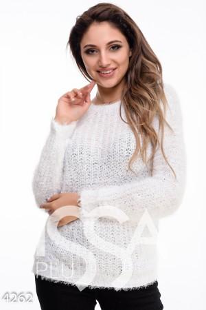 863902144d7b Белый мохеровый свитер крупной вязки