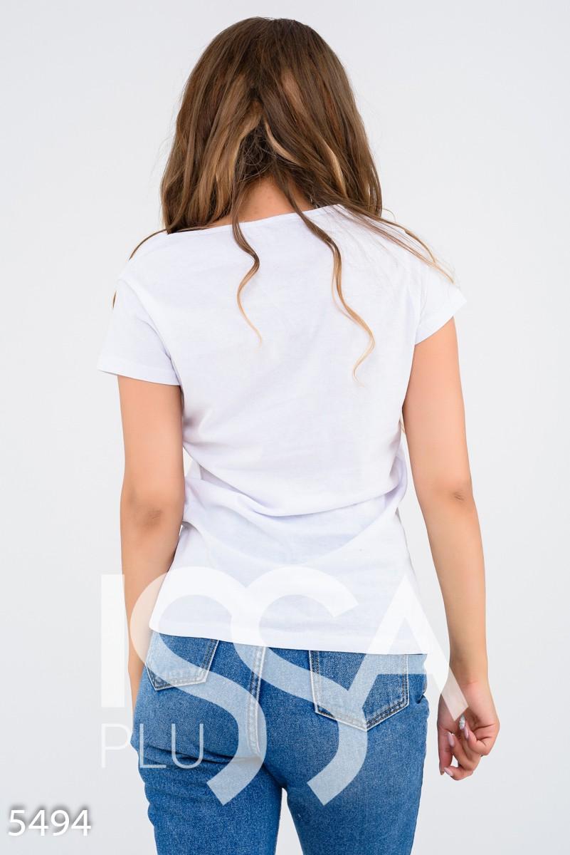 Белая футболка с Рок-Винни Пухом