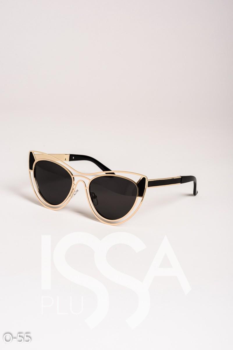 Черные очки-кошечки с оригинальной