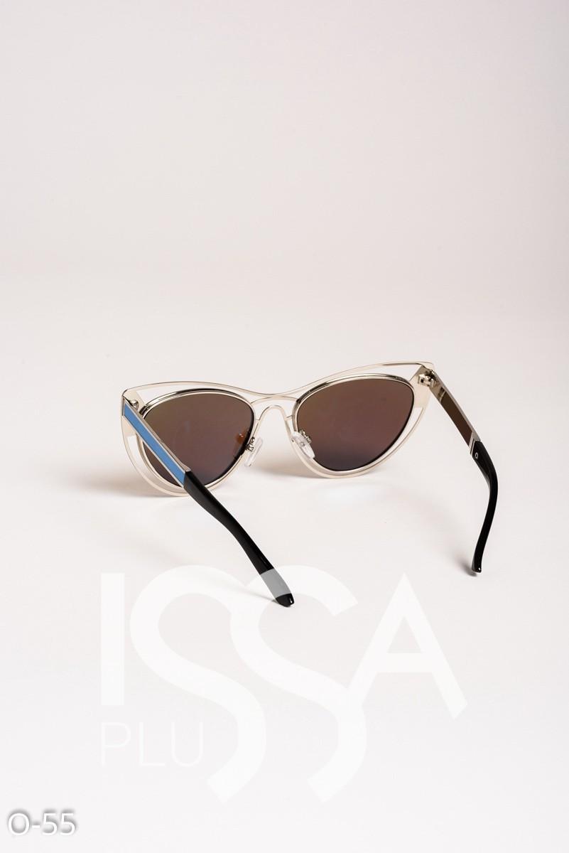 Голубые очки-кошечки с оригинальной