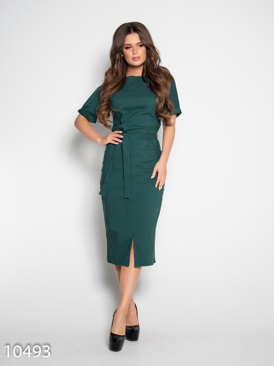 91d810cf6e9 Зеленое джинсовое платье с короткими рукавами  344 грн. фото 2 ...