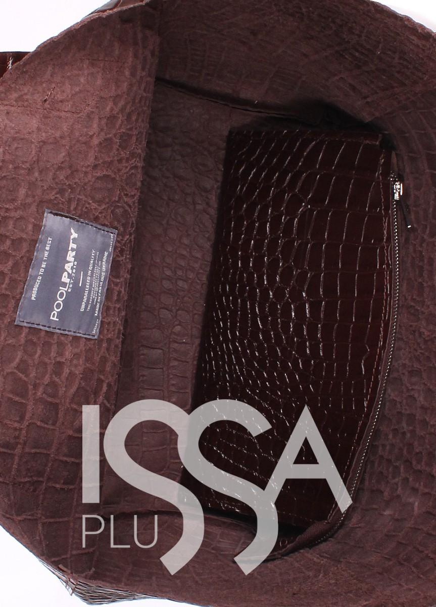 Вместительная коричневая сумочка Fiore из натуральной кожи