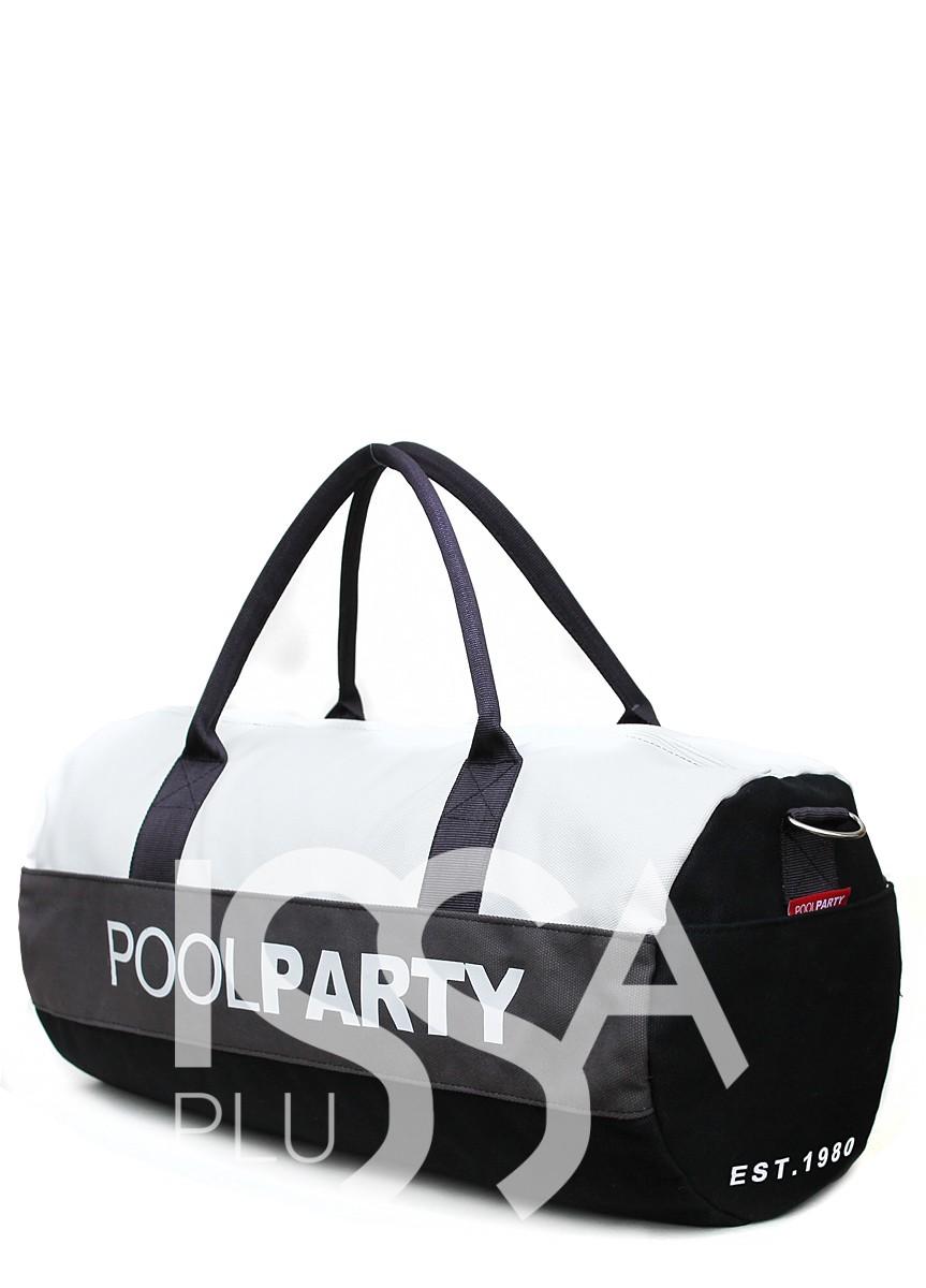 Спортивно-повседневная сумка черно-белая