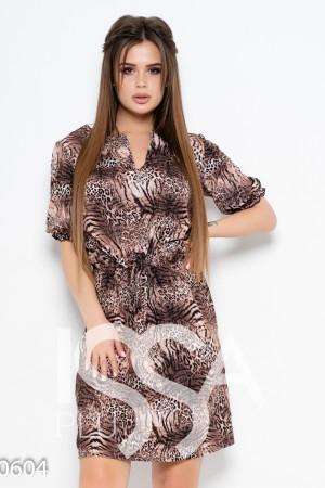 5e8014c1863 Женские платья принт цвет коричневый  купить принт коричневый цвет в ...