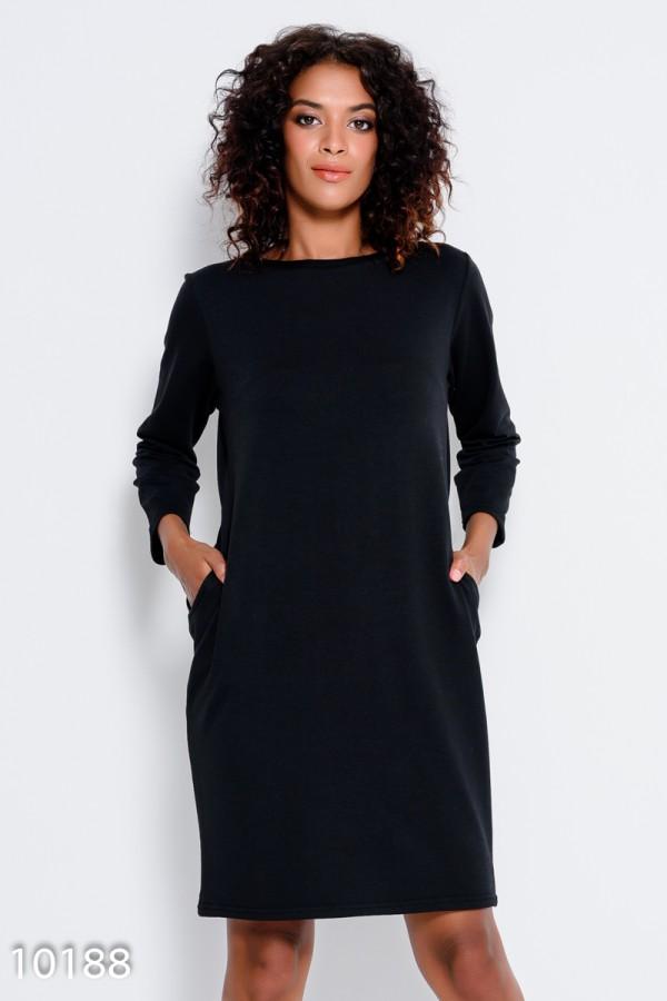 Темно-коричневое офисное платье с потайными карманами 67729 за 251 грн: купить из коллекции Like bombshell - issaplus.com