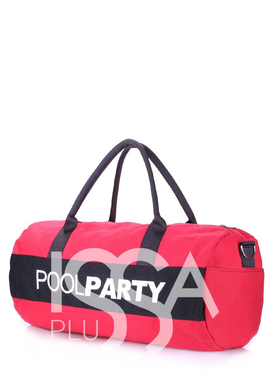 Спортивно-повседневная красно-черная сумка