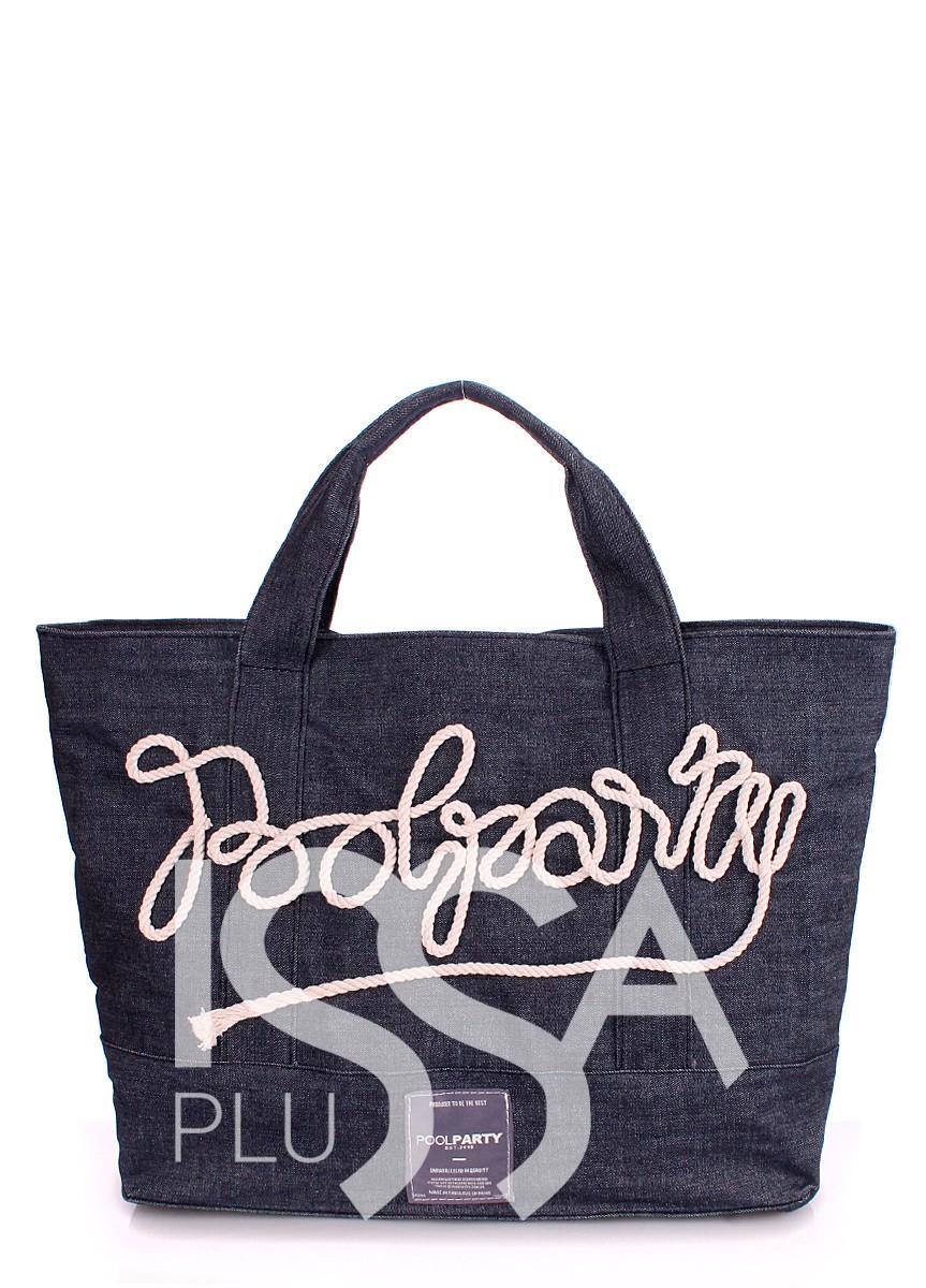 Джинсовая сумка с декоративной вышивкой