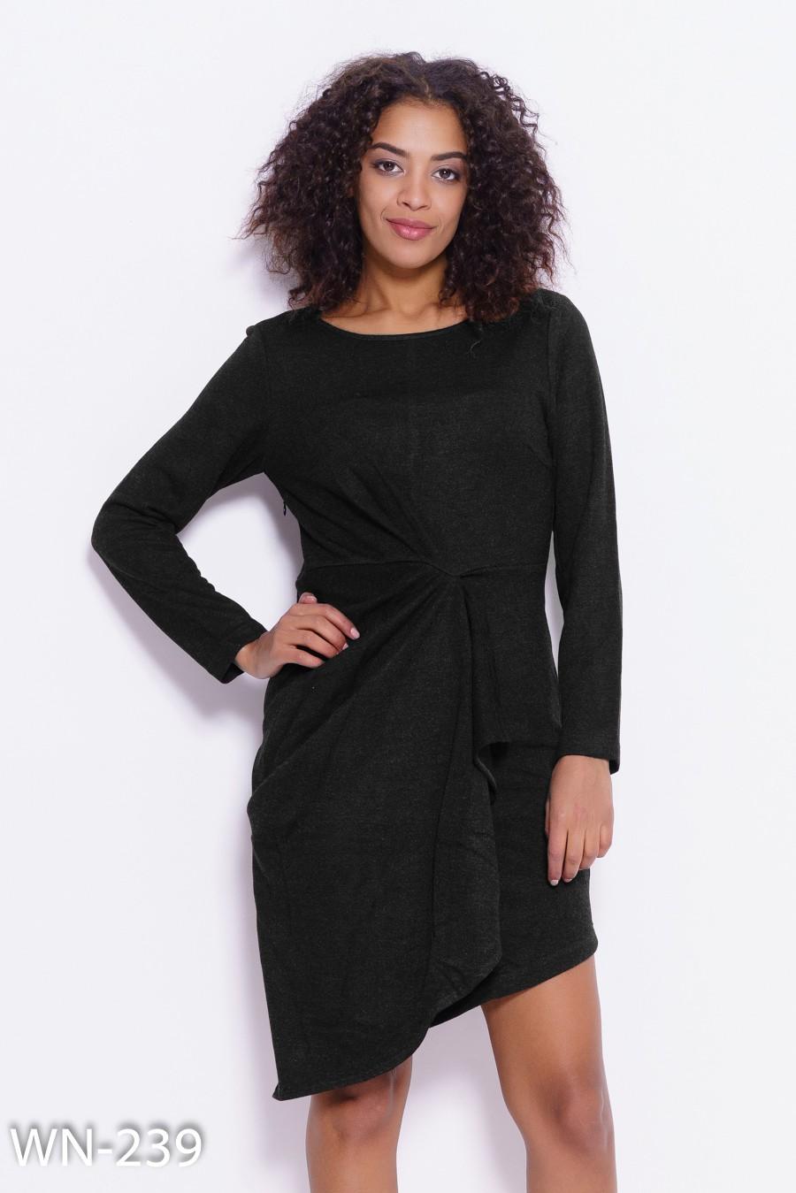 74f421b33ea Черное асимметричное платье с запахом   348 грн. фото 2 ...