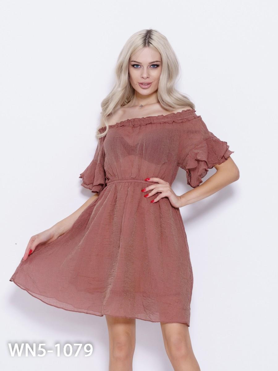 c33aa541037 Коричневое платье с люрексом и рюшами  234 грн. фото 2 ...