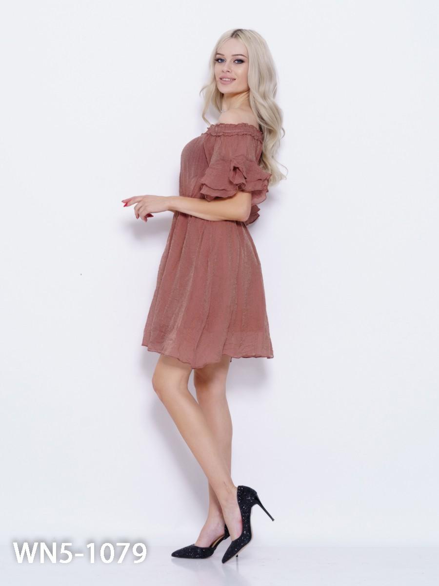 775c8ea5618 ... Коричневое платье с люрексом и рюшами  234 грн. фото 3 ...