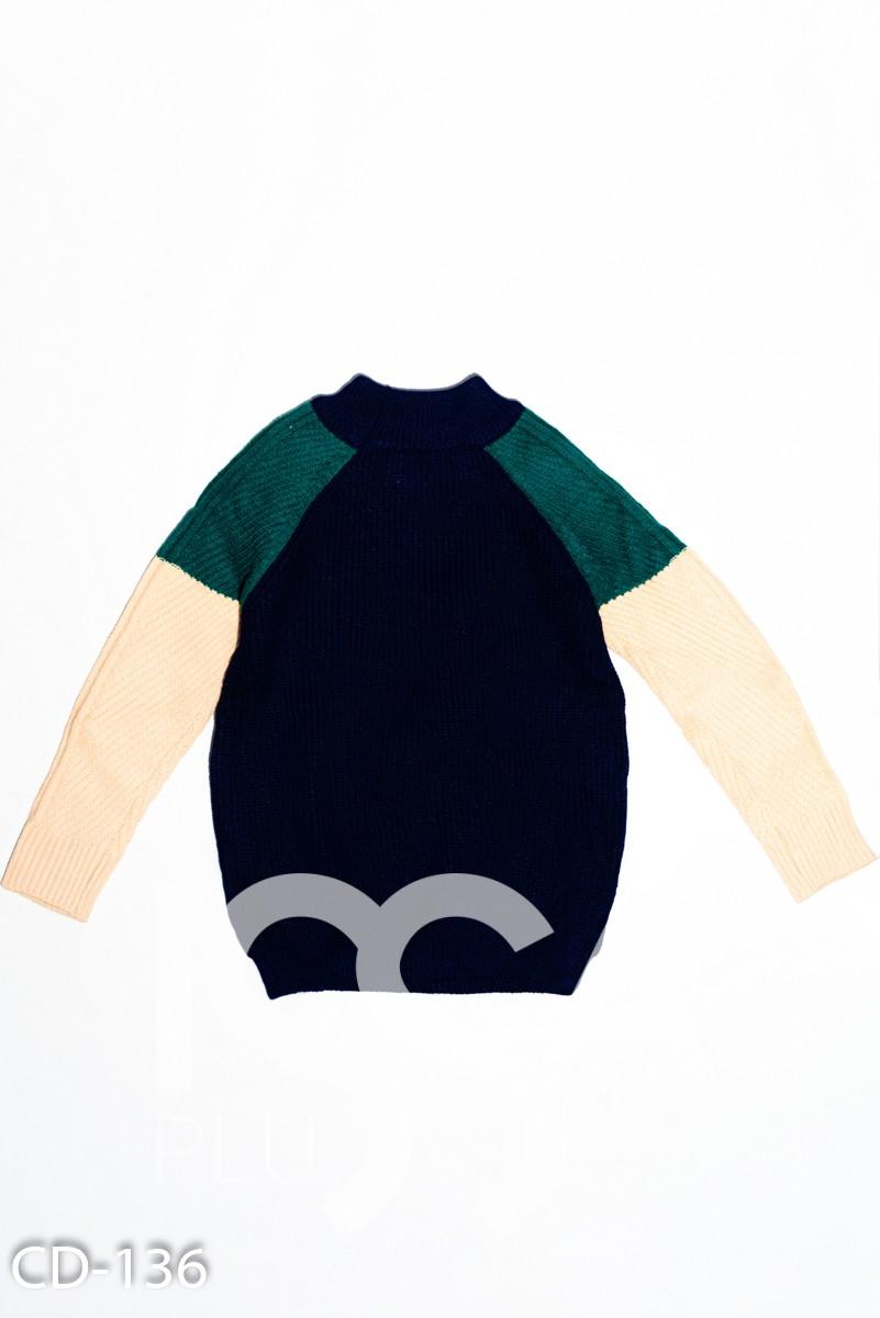 Мягчайший вязаный шерстяной свитер с рукавами-реглан