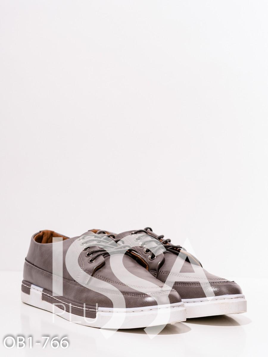 Серые демисезонные спортивные туфли