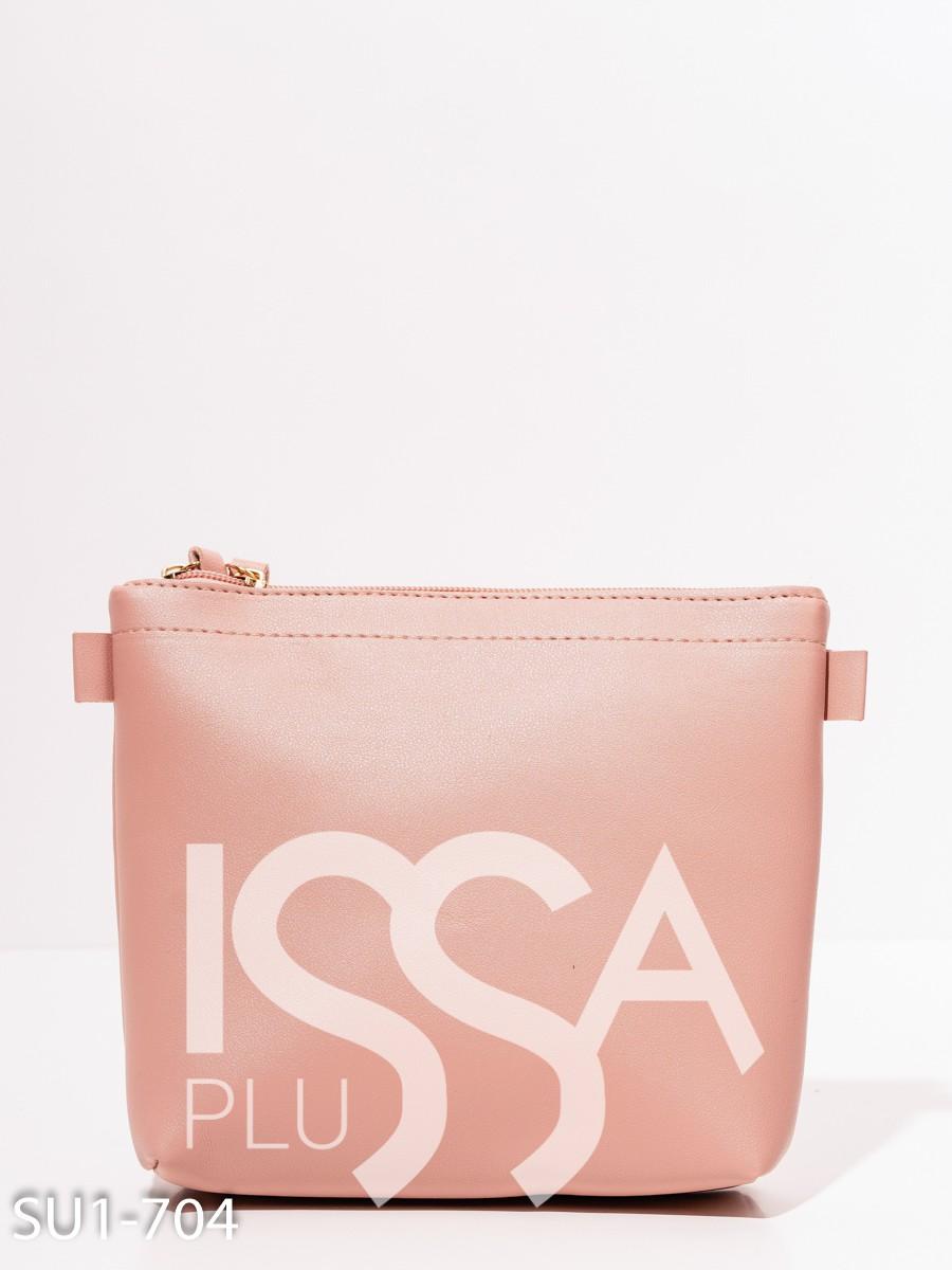 Розовая маленькая сумочка из эко-кожи