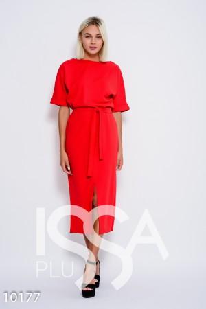 b8fc4a97ed0 Женские с поясом трикотаж красный цвет S размер  купить недорого в ...